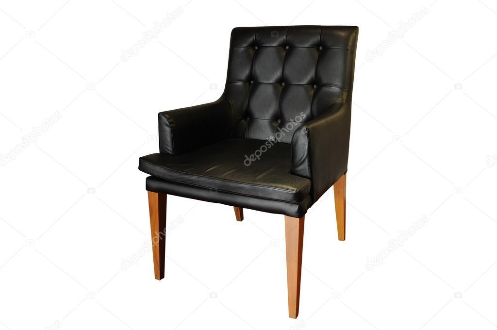 Zwart leren fauteuil stuks tweedehands kopen bij secondluxury