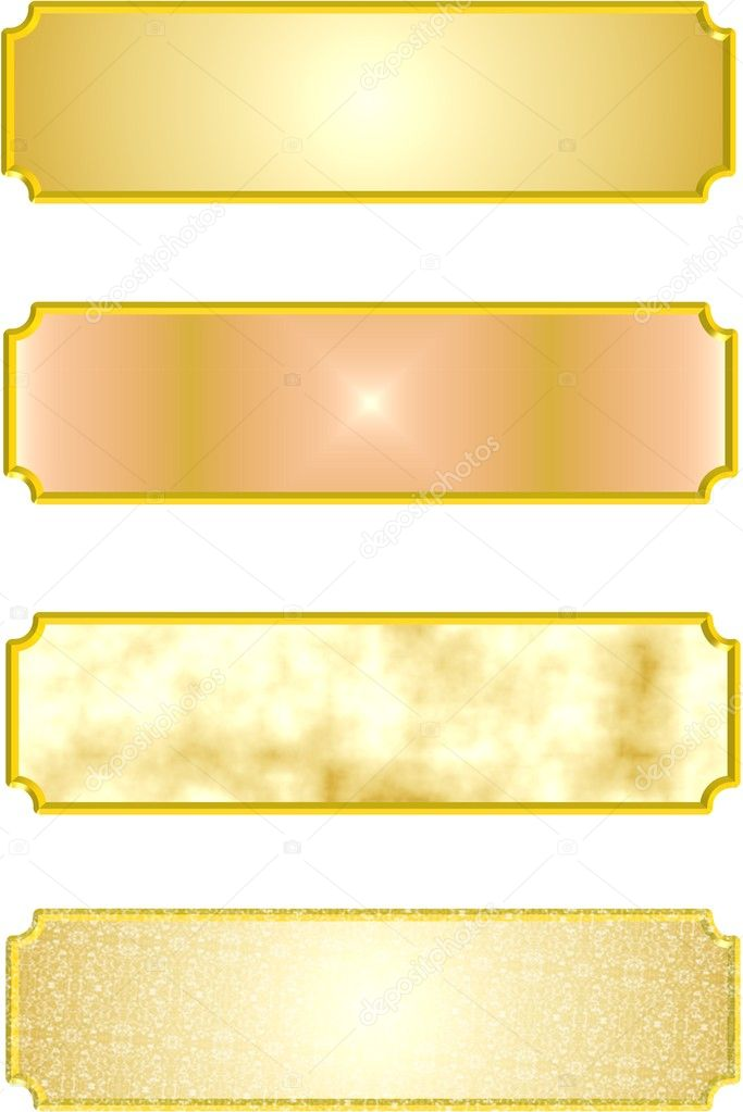 3d metal name plates in gold