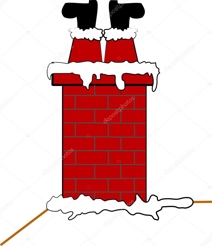 Stuck santa in chimney