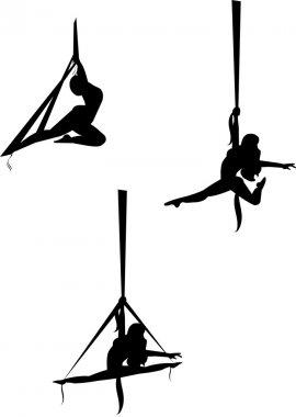 Aerial silk dance
