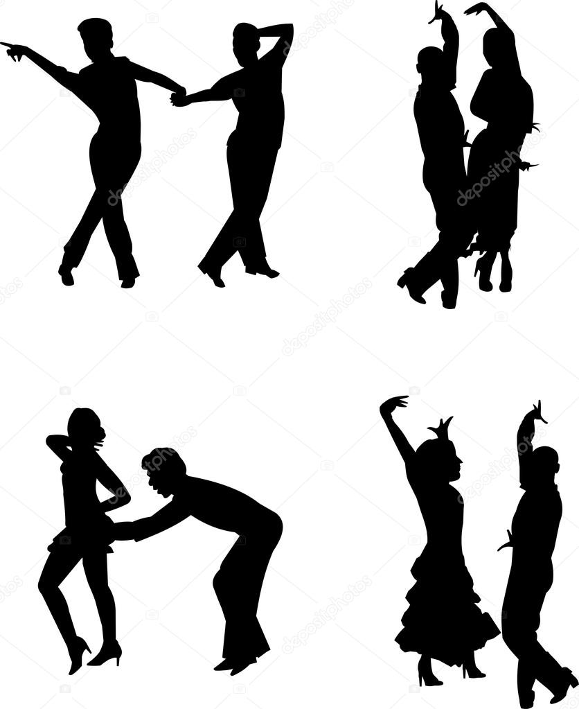zeitgenössische Tänzer — Stockvektor © retroartist #17034475