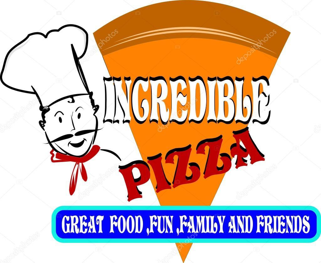 concepto Incredible pizza — Archivo Imágenes Vectoriales ...