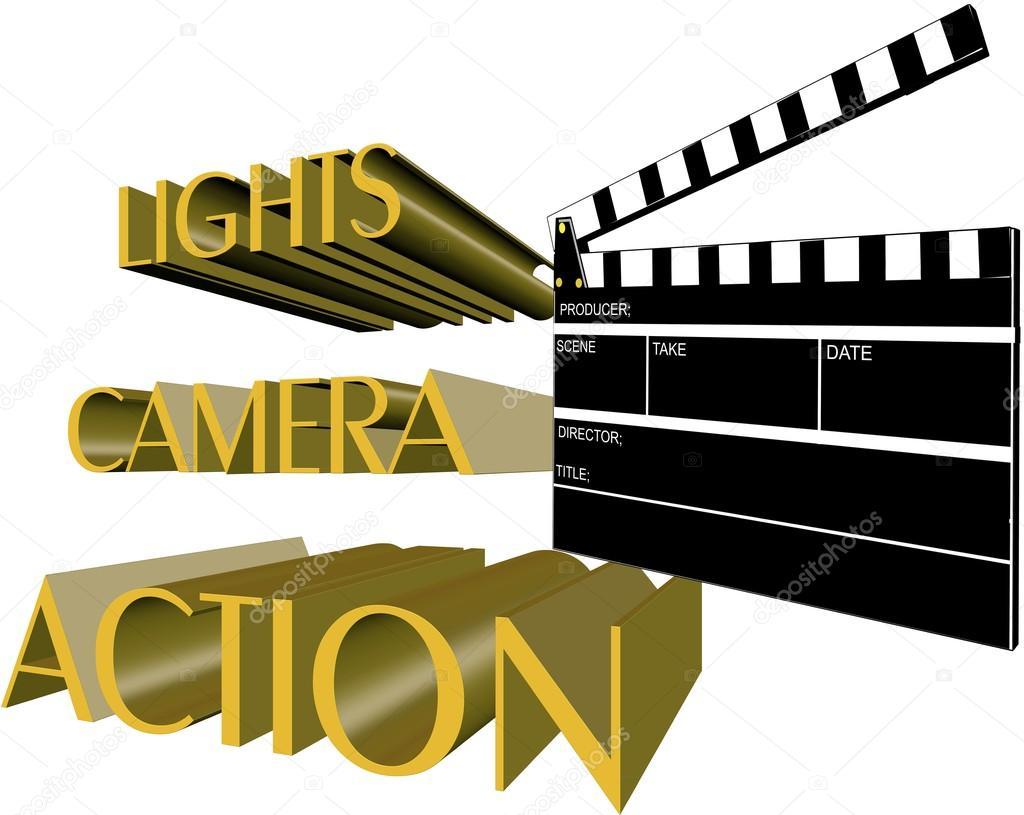Lights camera action — Stock Vector © retroartist #17161763