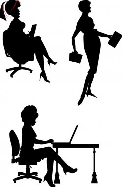 Office workeres in silhouette