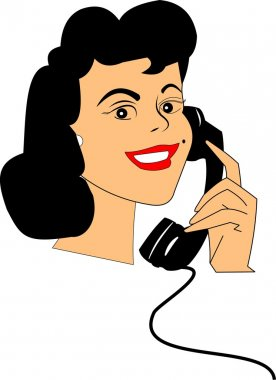Happy lady on telephone