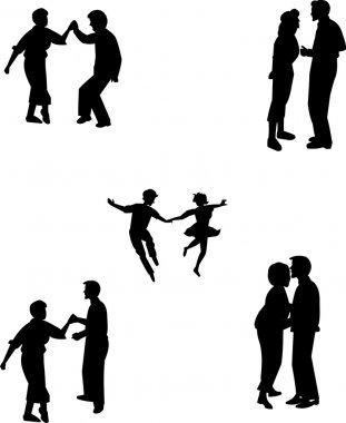 Teens in various dance poses