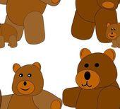 Medvěd rodinné bezešvé tašky