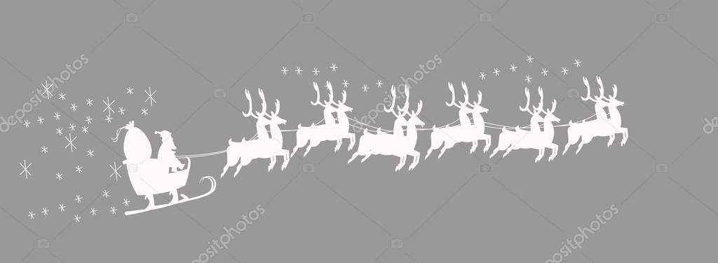 Santa In Sleigh Template Stock Vector Retroartist 32248063