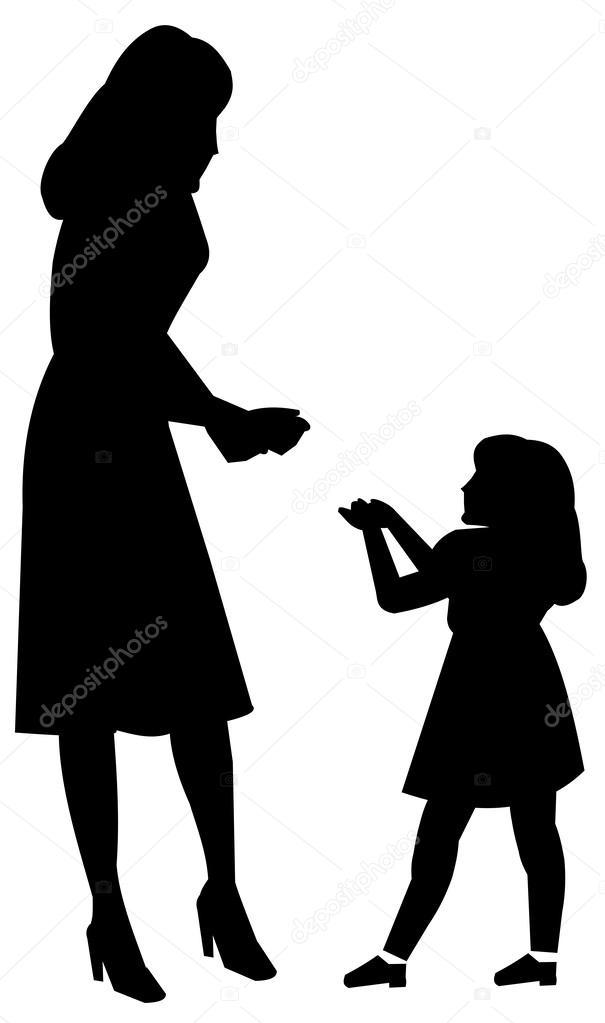 Madre E Hija Archivo Imágenes Vectoriales Retroartist 32889497
