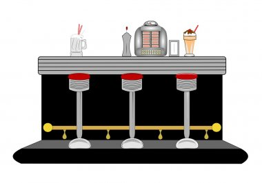 Fifties diner counter