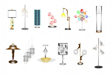 Retro assorted household lamps