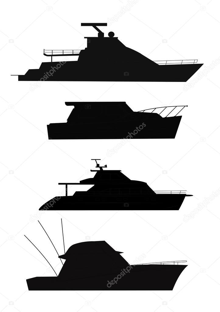 Fishing Boat Silhouette Clip Art Fishing Boat Silhouettes Stock Vector C Retroartist 41953855