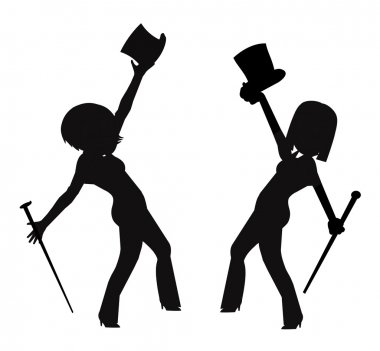 Dancers with top hats and canes
