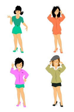 Ladies in shorts and shirts