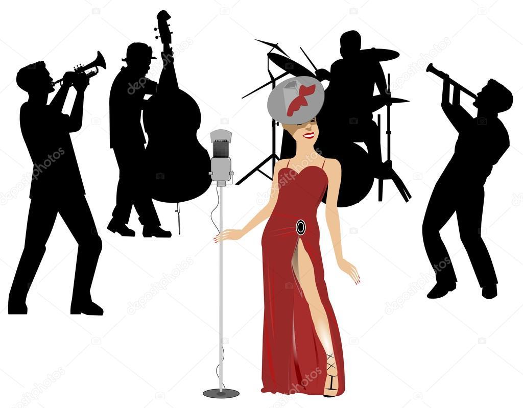 Female blues singer