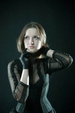 Pretty gothic girl
