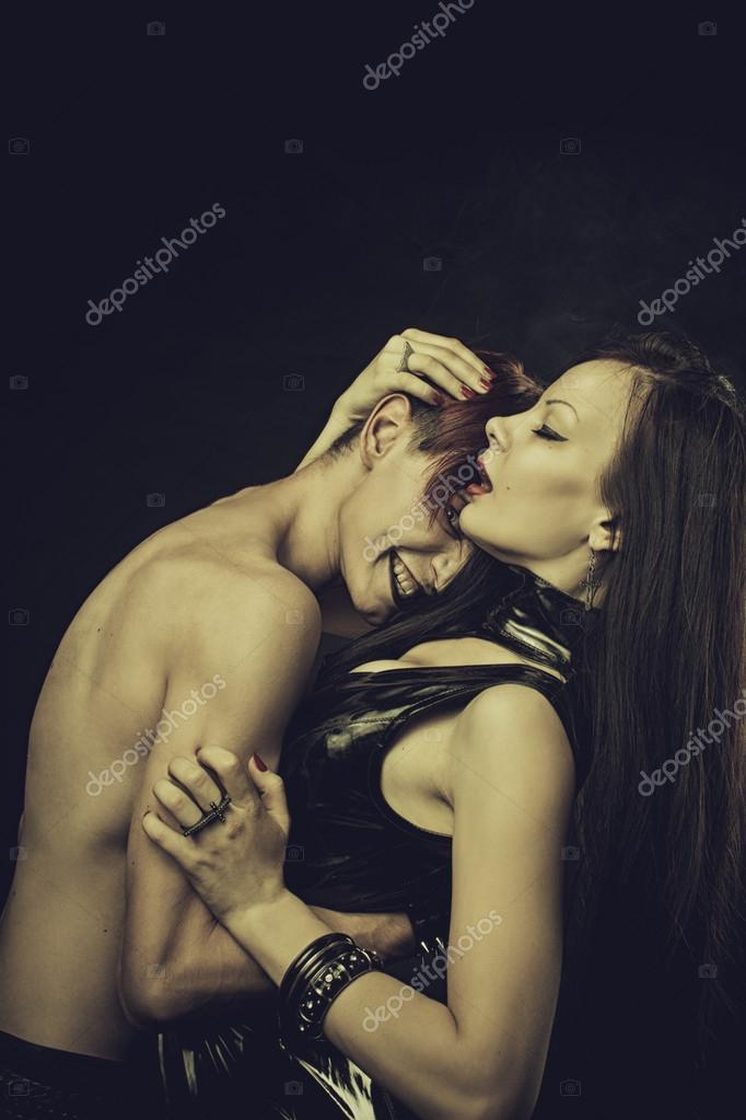 Sexy lady with man