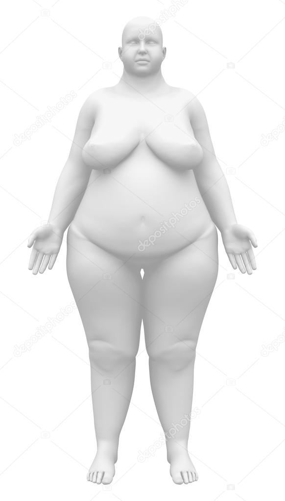 Obese Anatomy Female Figure - Front view — Stock Photo © decade3d ...