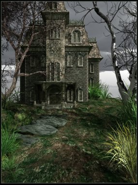 Haunted house in an abandoned park