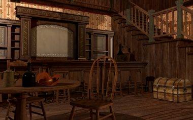 Old wild west saloon