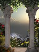 Fotografie pohled z okna paláce