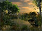 Fényképek Twilight-át mocsarak