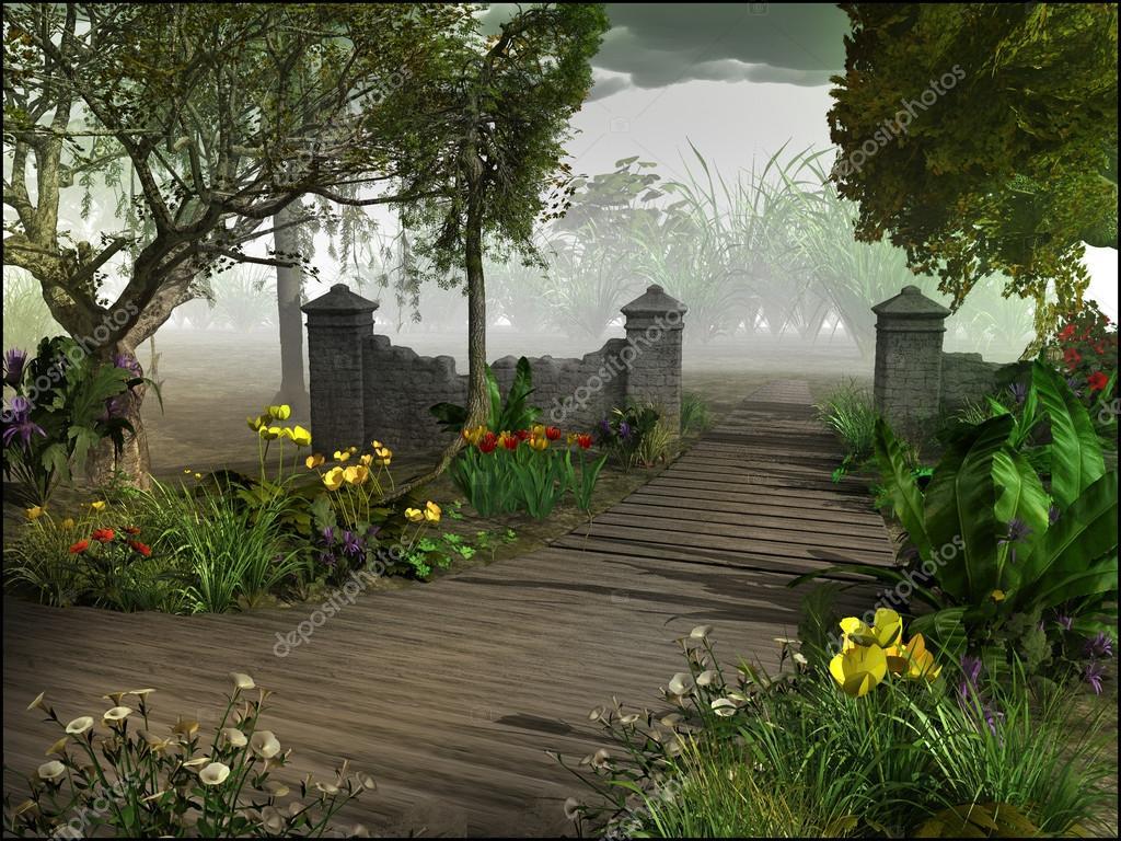 De Magische Tuin : Ingang van magische tuin u stockfoto mppriv