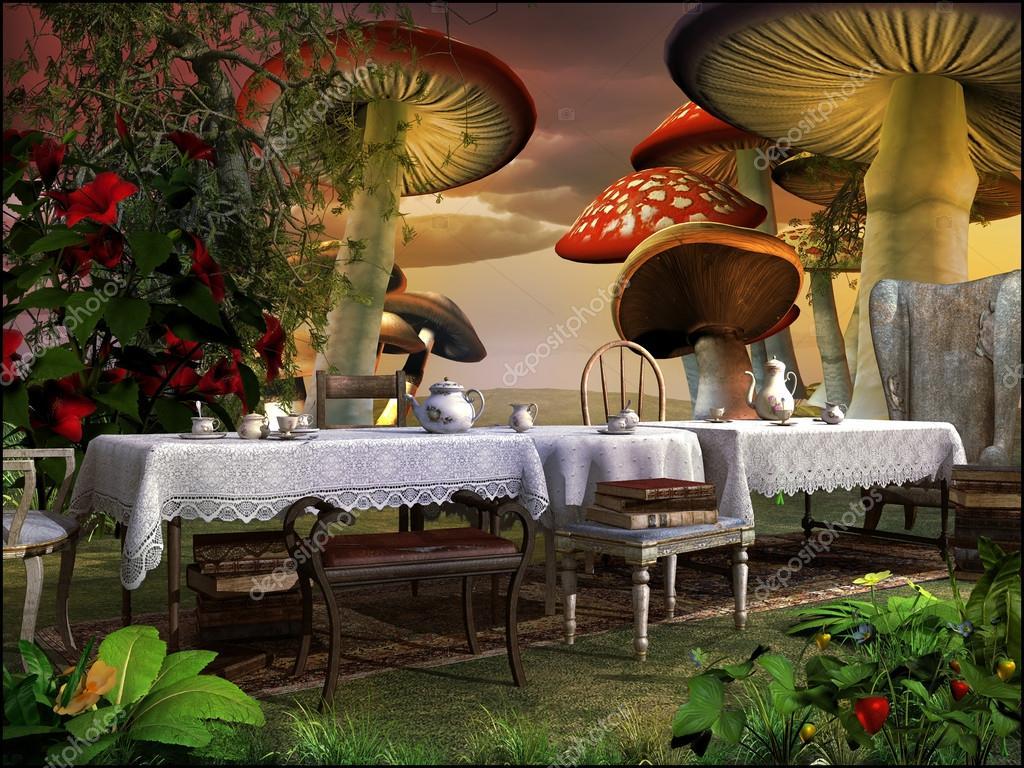 De Magische Tuin : Thee in de magische tuin u stockfoto mppriv