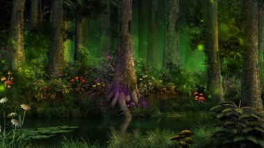 Dark fairytale forest