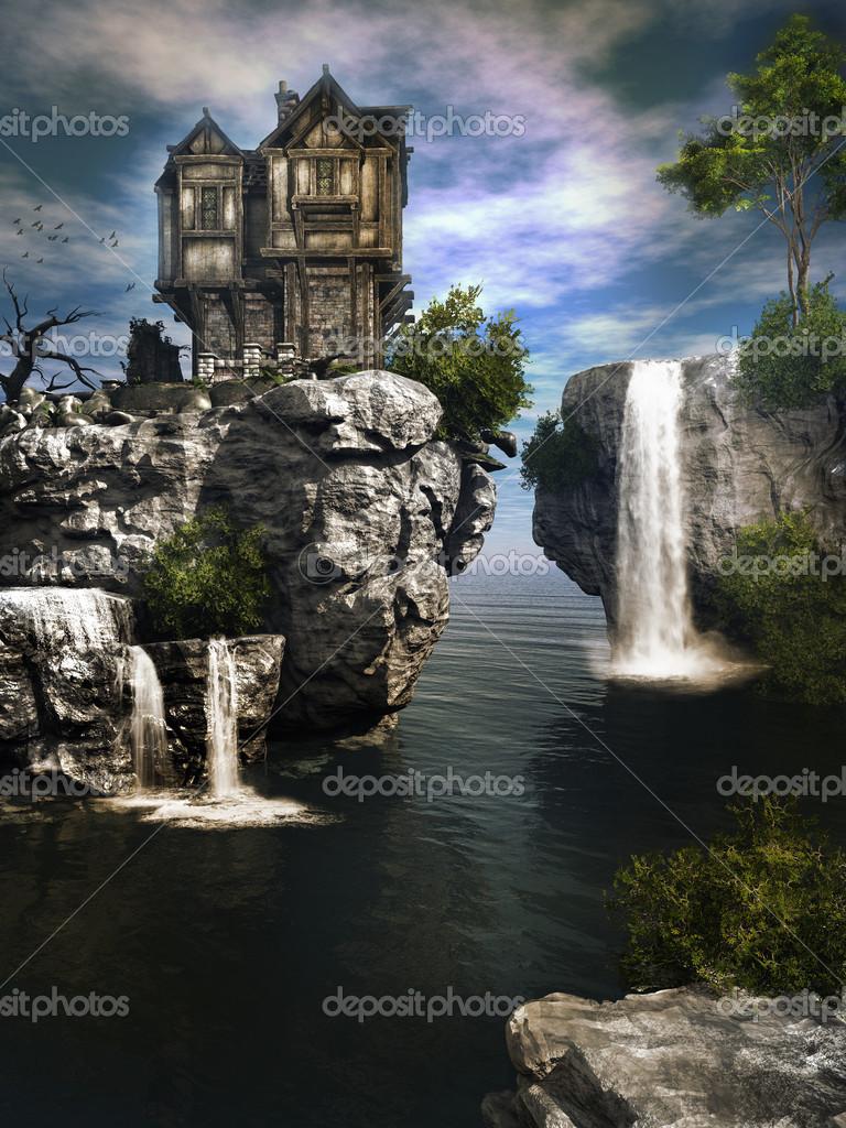 La maison sur la cascade — Photographie mppriv © #27953243
