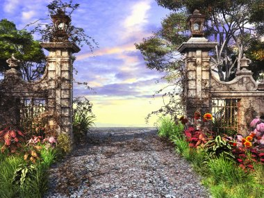 Entrance gate to the garden