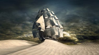 Ship on the desert