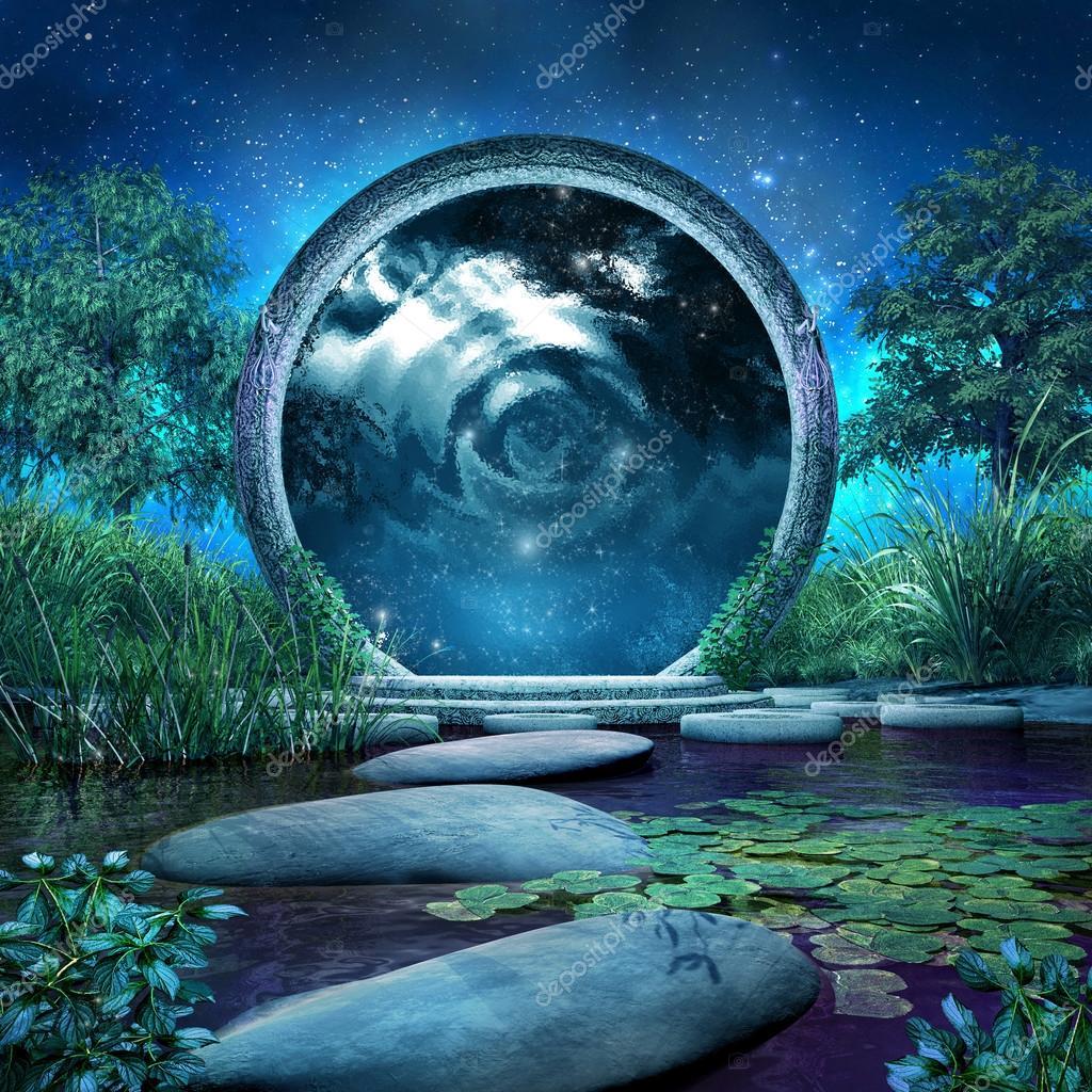 Magische Portal Auf Dem See Stockfoto Mppriv 49368381
