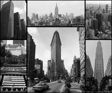 Black and White New York City Collage