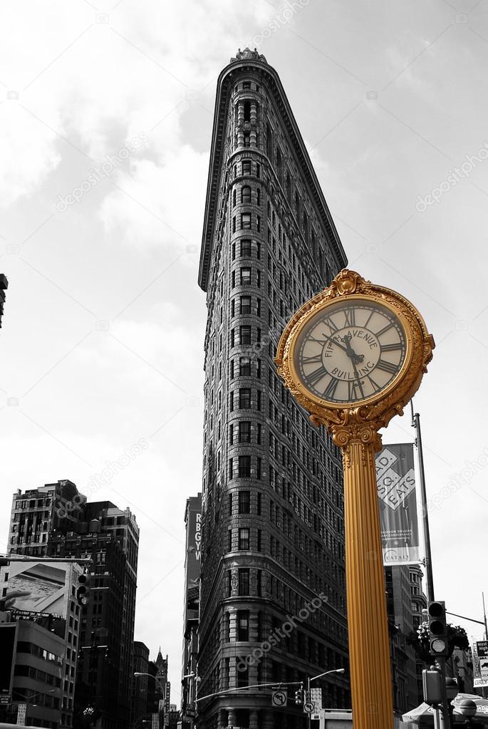 Flat Iron Building, new york city usa.Black and white ...