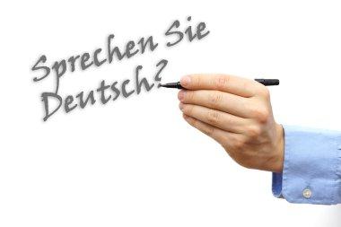 Written text Do you speak German in german language