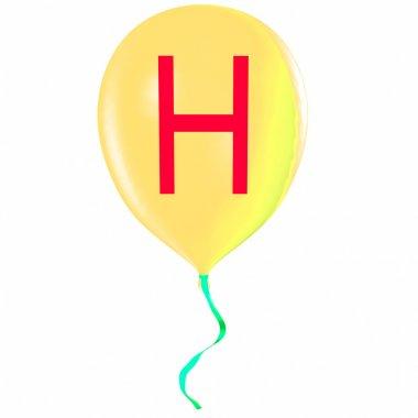 Letter H on balloon