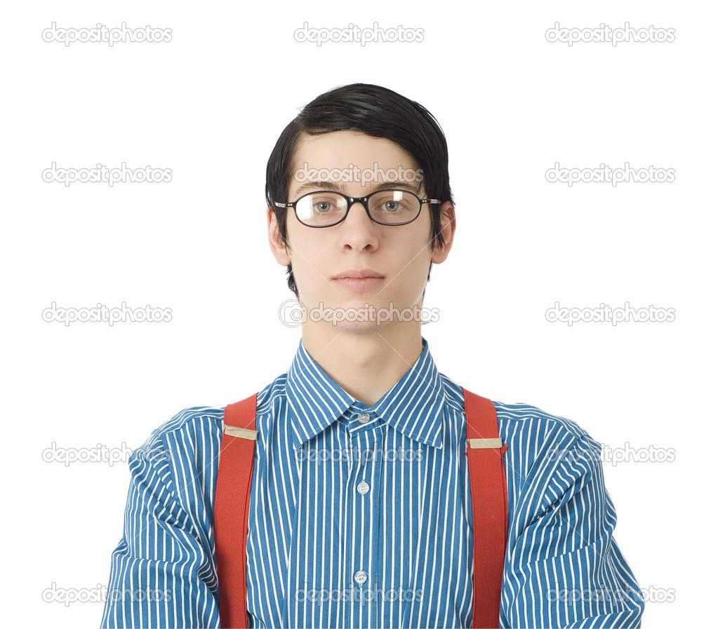 b76cf9d0e1fe4b nerd zakenman — Stockfoto © alistairjcotton  18232171