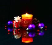 vánoční osvětlení na tmavém pozadí