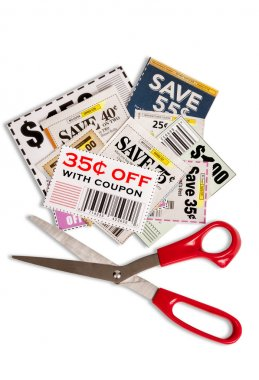 Coupons With Scissors Vertical Shot XXXL