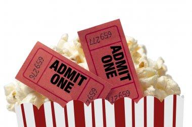 Movie Night On White Background