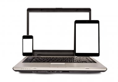 Mobile Phone, Laptop and Digital Tablet