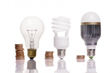 different types of light bulbs