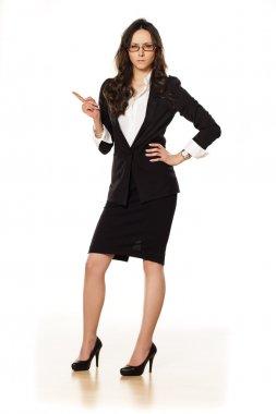 nervous business woman