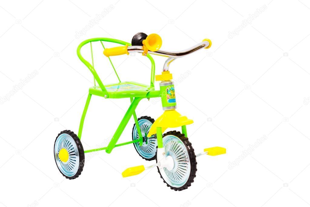 Tre Ruote Di Biciclette Per Bambini Foto Stock Elenbessonova