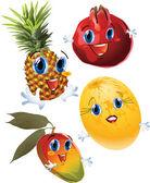 Fotografie Cartoon fruits