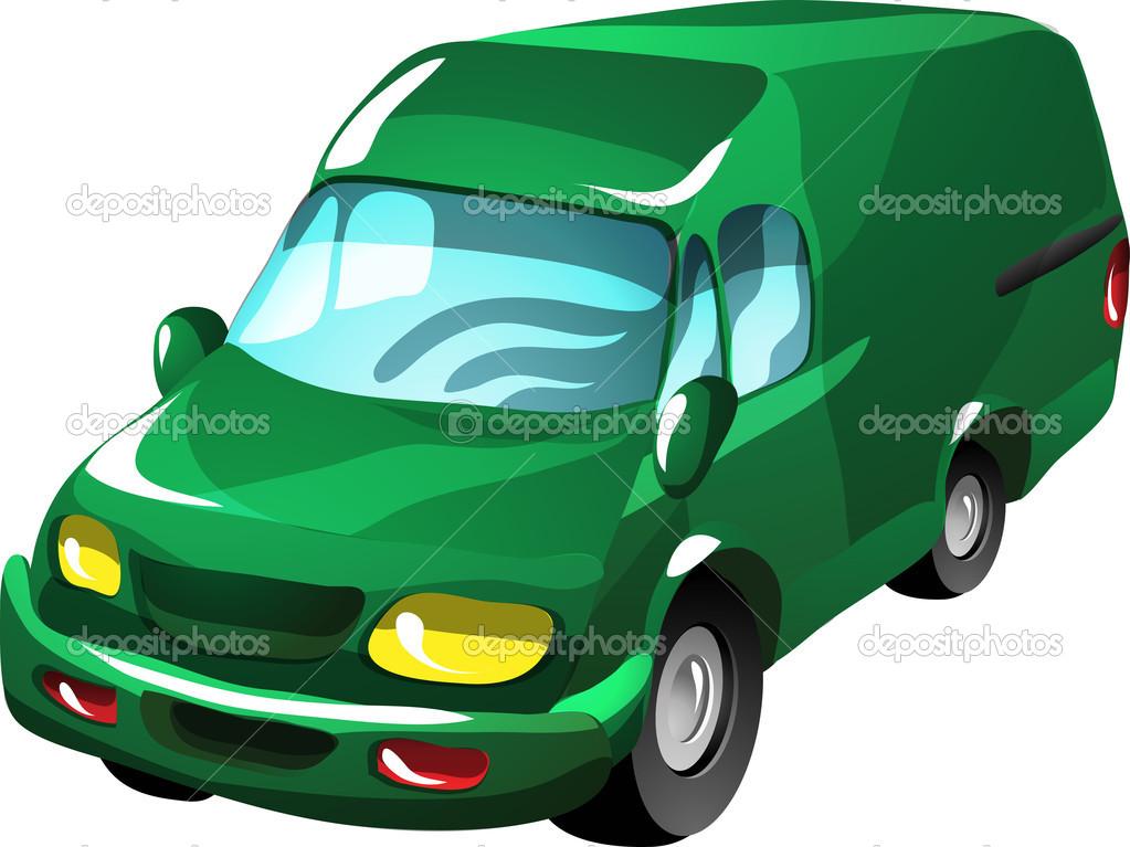 Camionnette De Livraison De Dessin Animé Image Vectorielle