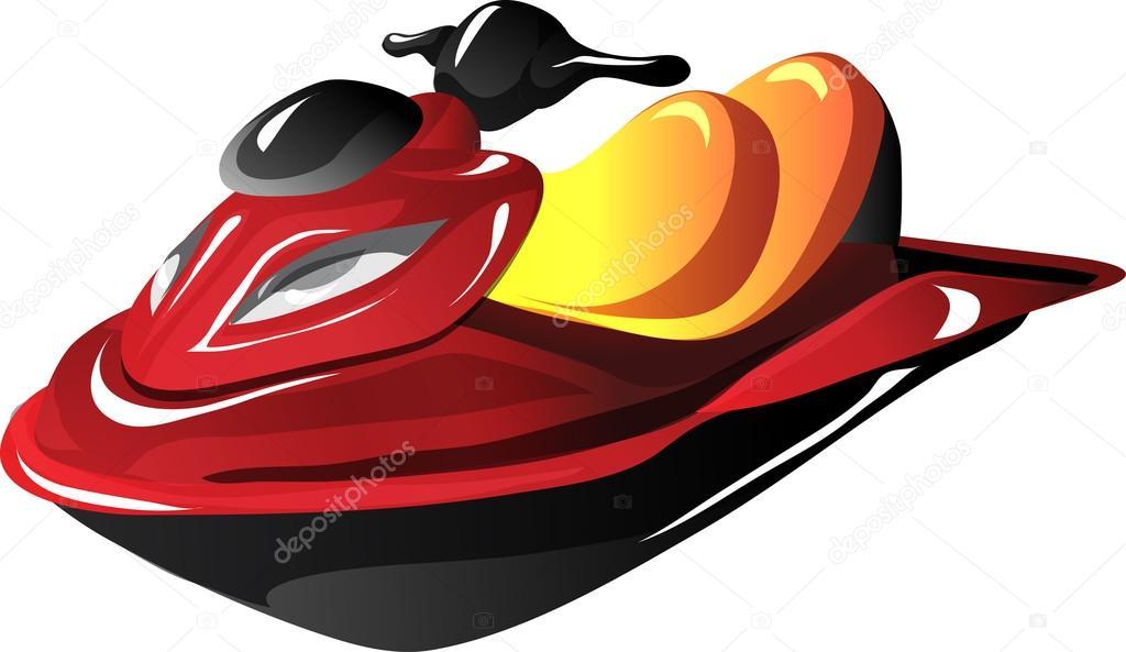 Cartoon Jet Ski Stock Vector C Ledav 18227099