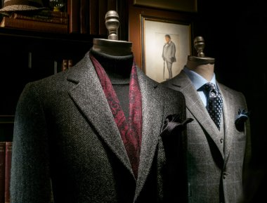 Two Mannequins in Coat and Suit