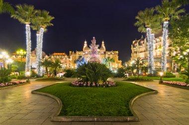 Christmas decorations in Monaco, Montecarlo,France